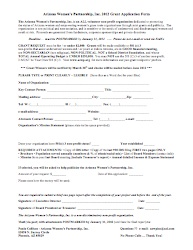 2012 grant application